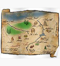 Camp Half-Blood Map Poster