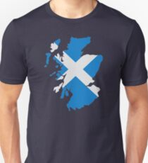 Scotland map flag Unisex T-Shirt