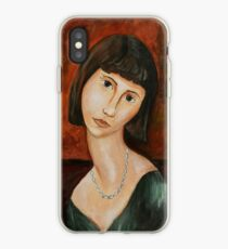 Modigliani style Portrait of a Girl  iPhone Case