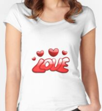 Valentine Day Special Love  Women's Fitted Scoop T-Shirt