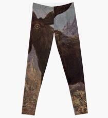Vintage Moose Painting (1909)  Leggings