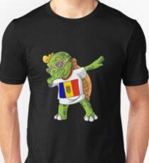 Moldova Dabbing Turtle Unisex T-Shirt