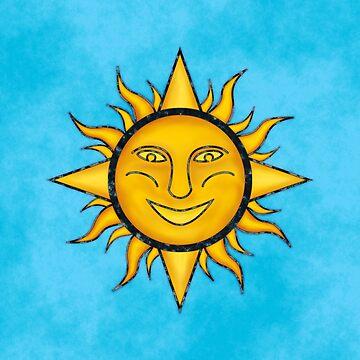 Folk Art Sun Symbol by yarddawg