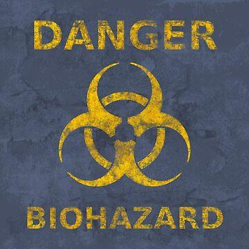 Distressed Biohazard Warning by yarddawg
