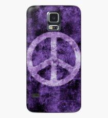 Distressed lila Friedenszeichen Hülle & Klebefolie für Samsung Galaxy