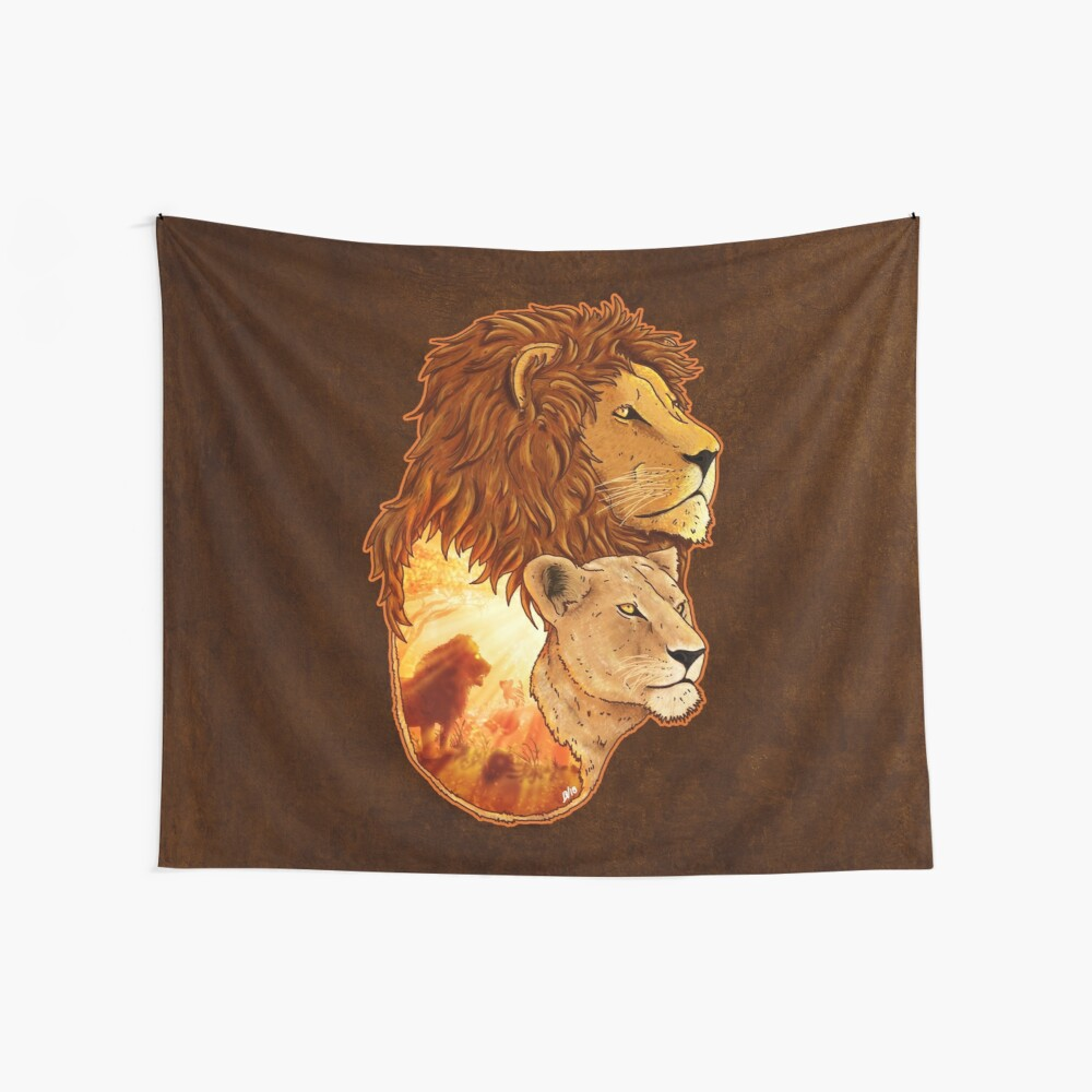 Lion Pride Wall Tapestry