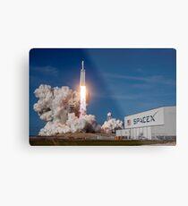 SpaceX Falcon Heavy Liftoff (8K Auflösung) Metalldruck