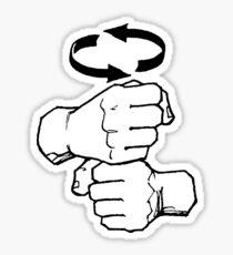 coffee sign language Sticker