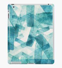 Blue and Aqua Streaks iPad Case/Skin