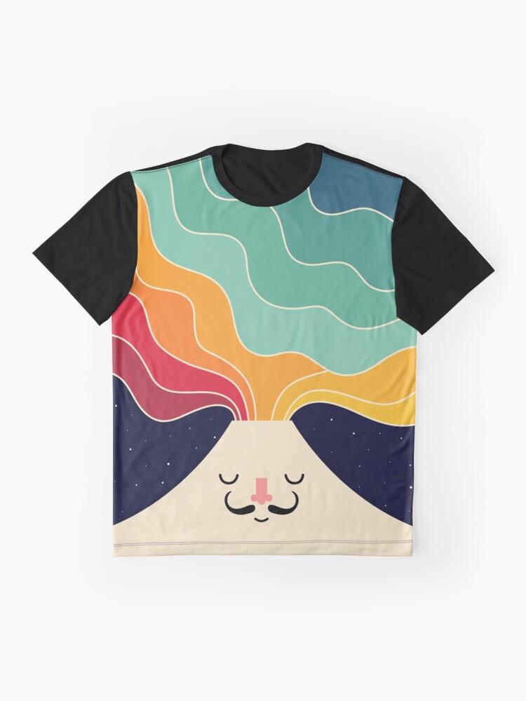 Alternative Ansicht von Denk weiter kreativ Grafik T-Shirt