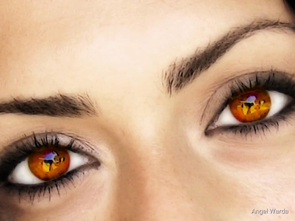a fire in her eyes by Angel Warda