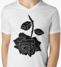 Black Rose Men's V-Neck T-Shirt