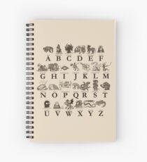 Seeungeheuer-Alphabet Spiralblock