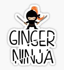 Ginger Ninja Sticker