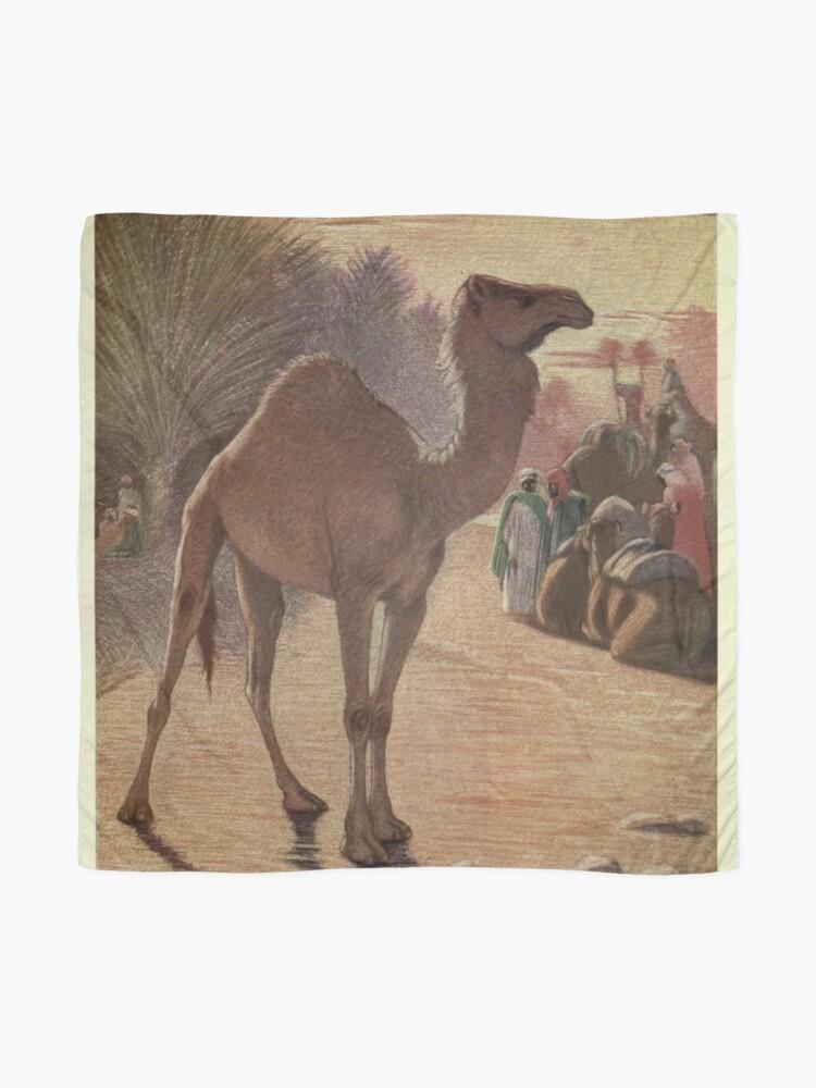 Alternate view of Vintage Camel Painting (1909) Scarf
