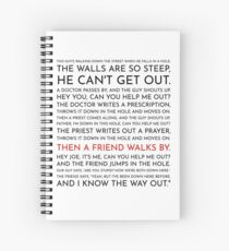 Guy Falls Into a Hole - Leo McGarry's Speech Spiral Notebook