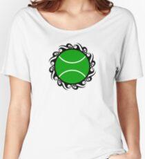 tennis : tribalz Women's Relaxed Fit T-Shirt