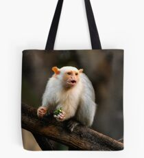 Silvery Marmoset Tote Bag