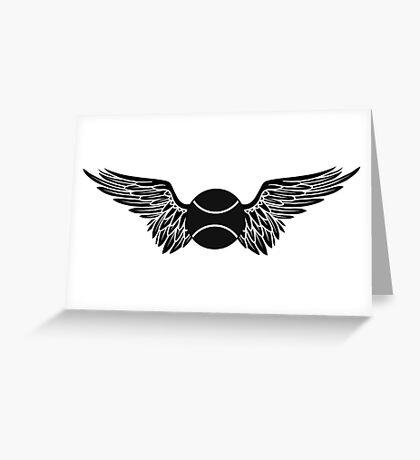 tennis : winged  Greeting Card