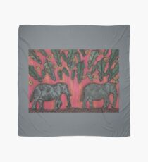 Elephants at Sunset Scarf