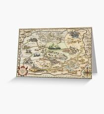 The Wizard of Oz World Map High Quality Greeting Card