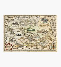 The Wizard of Oz World Map High Quality Photographic Print