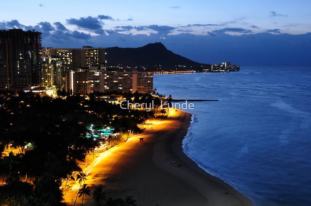 Waikiki By Night by Cheryl  Lunde