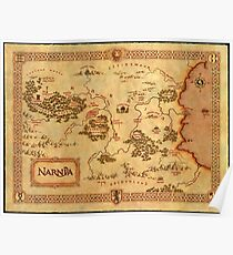 World Map of Narnia High Quality Poster