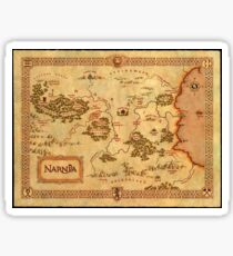 World Map of Narnia High Quality Sticker