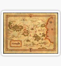 Pegatina Mapa mundial de Narnia de alta calidad