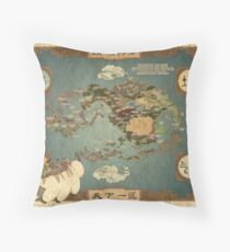 Avatar the Last Airbender Map Books 1-3 High Quality Throw Pillow