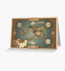 Avatar the Last Airbender Map Books 1-3 High Quality Greeting Card