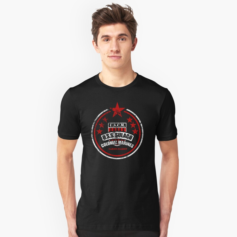 USCM Colonial Marines Unisex T-Shirt Front