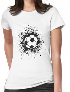 futbol : soccer splatz Womens Fitted T-Shirt