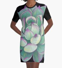 Sukkulente Pflanze T-Shirt Kleid