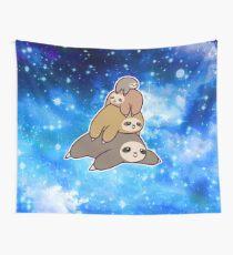 Sloth Stack Night Sky Tapestry
