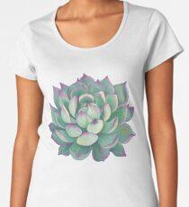 Sukkulente Pflanze Premium Rundhals-Shirt
