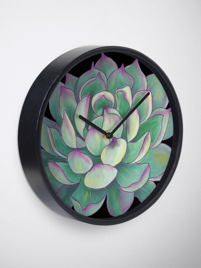 Alternate view of Succulent plant Clock