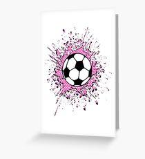 futbol : soccer splatz Greeting Card