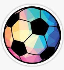Geometric Soccer Shape Low Poly Soccer Gift Sticker