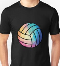 Geometric Volleyball Shape Low Poly Volleyball Gift Unisex T-Shirt