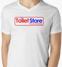 Toilet Store: Fine Suits and Tailoring Men's V-Neck T-Shirt