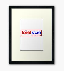Toilet Store: Fine Suits and Tailoring Framed Print