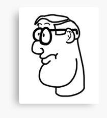 Cartoon Genius Canvas Print