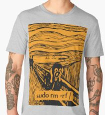 Linux Tux Root Purge Scream Men's Premium T-Shirt