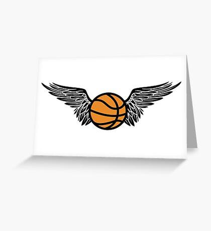 basketball : winged Greeting Card