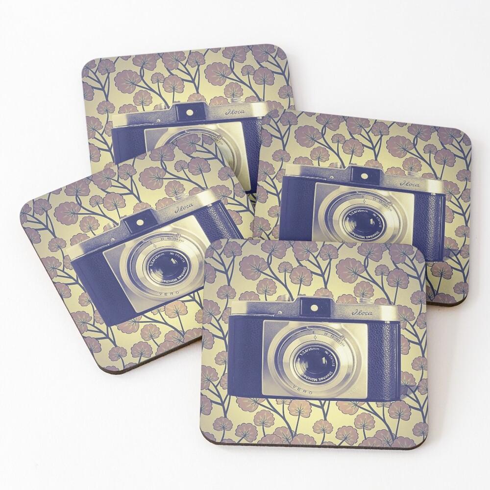 iLoca 35mm Camera Vintage Color Coasters (Set of 4)