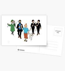 Tintin + Friends Postcards