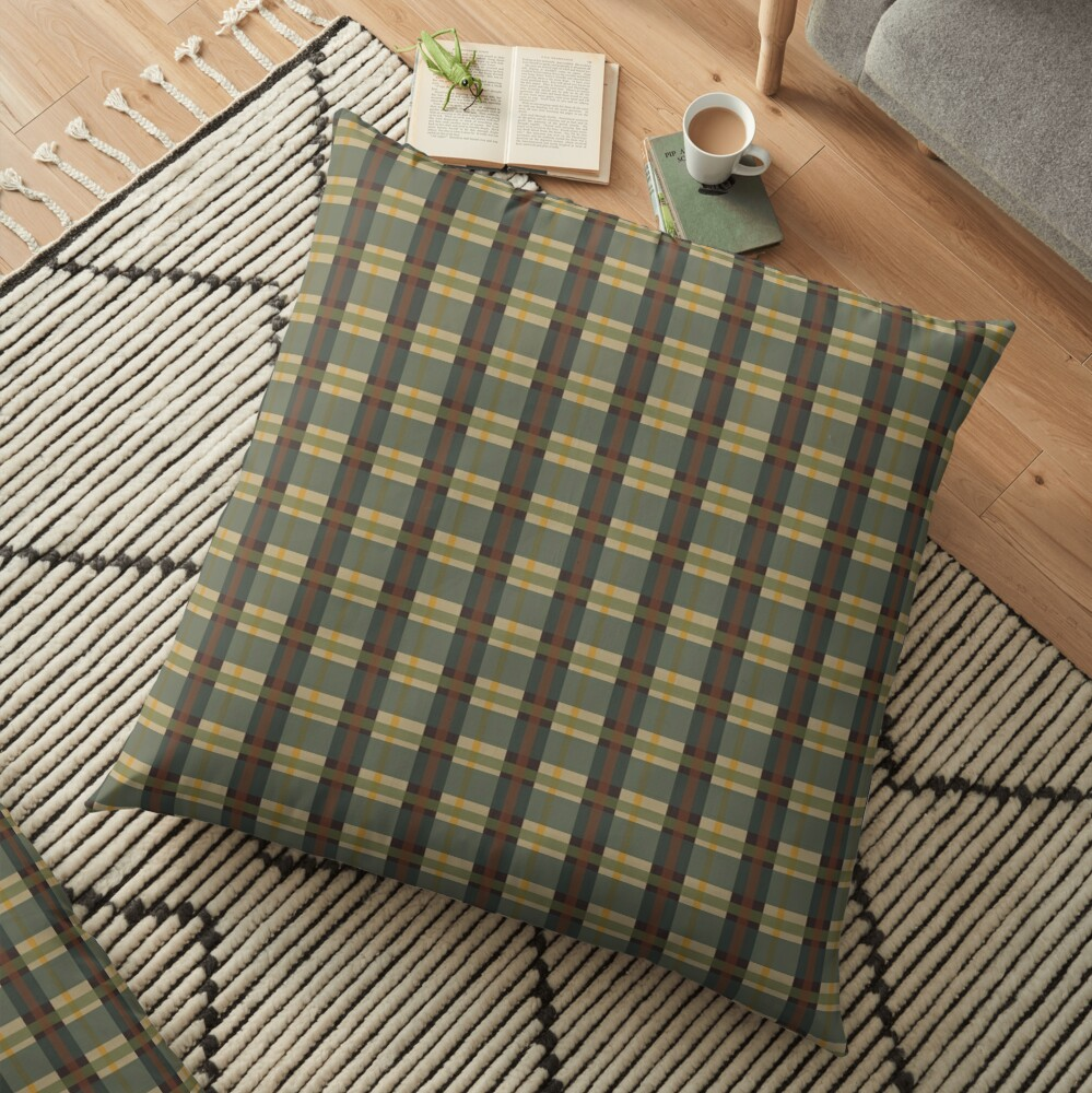 PNW-Tartan Floor Pillow