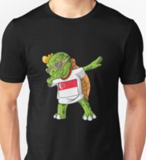 Singapore Dabbing Turtle Unisex T-Shirt